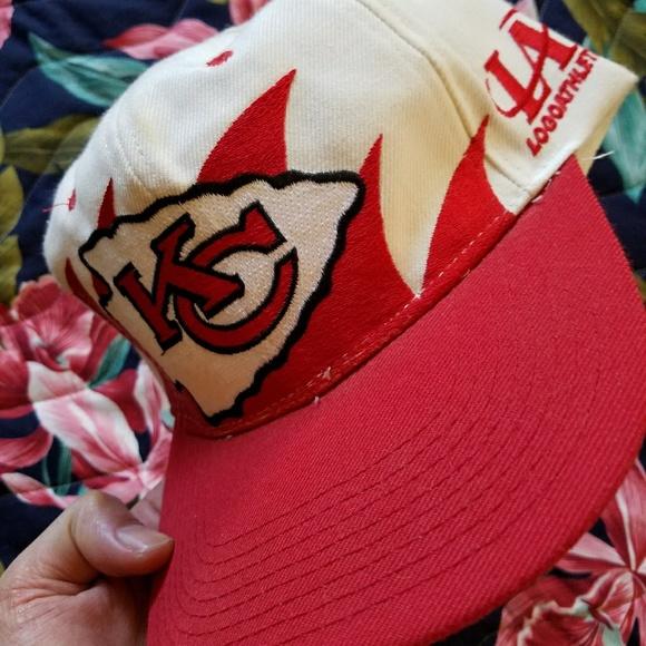 990d60830970c2 Vintage Accessories | Authentic Logo Athletic Kc Chiefs Snapback Cap ...